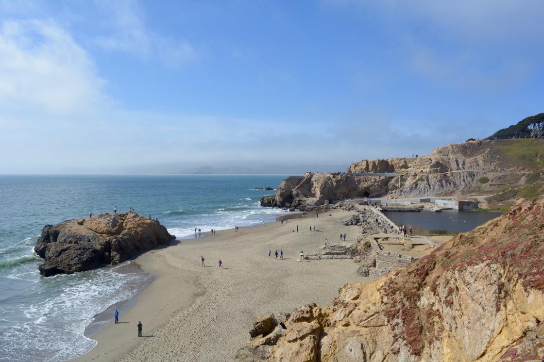 San Francisco's Sutro Baths on a Sunny Day