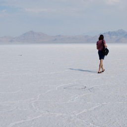 The Earth is Flat! Bonneville Salt Flats and the Land of Pure Horizon