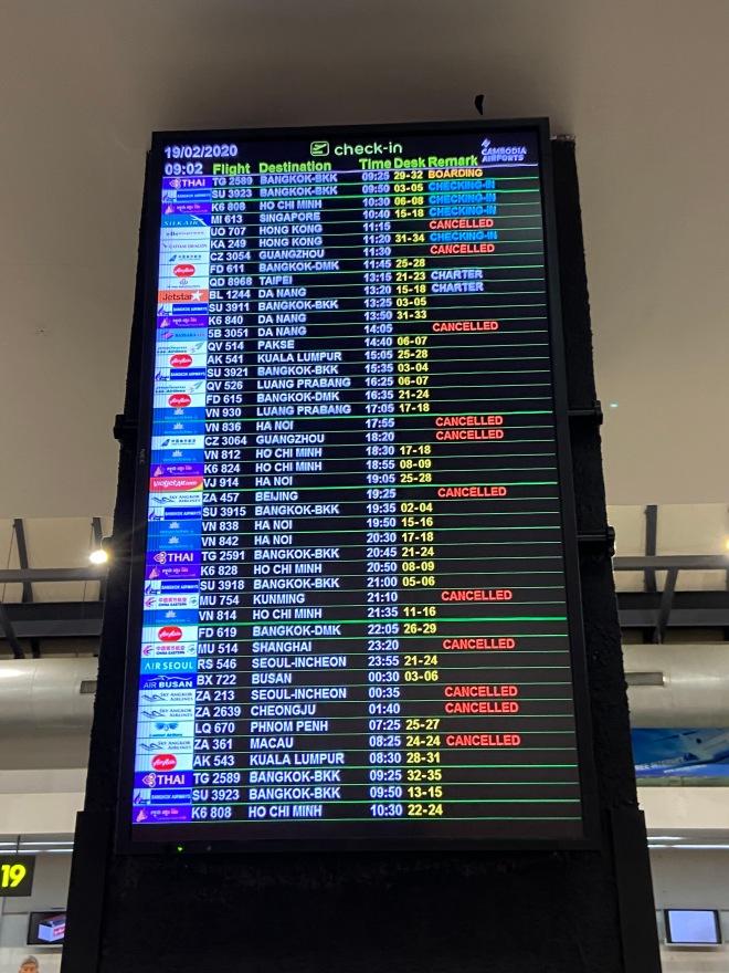 Travel Restrictions Flight Board